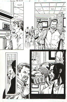 Bob Layton 2000 Iron Man Original Art-Tony Stark, Rhodey!
