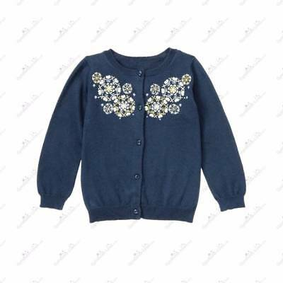 NWT Janie and Jack SNOWFLAKE KISSES Embroidered Cardigan Sweater 5