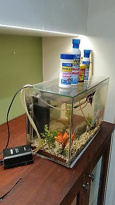 used fish tank with accessories