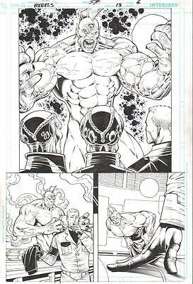 Brainiac, Despero Half Splash Original Art-St. Aubin/ Hanna 2010!