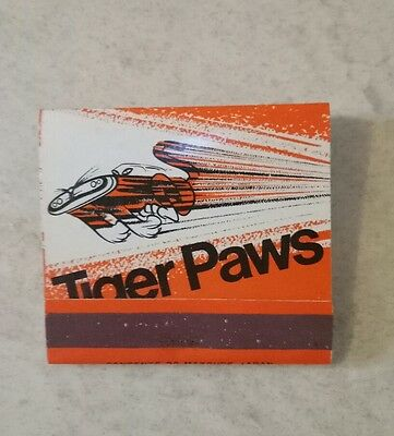 Tiger Paws collectable matchbook
