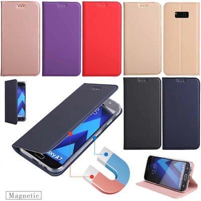 For Samsung J3 J5 J7 2015 2016 2017 Slim Magnetic Wallet Case Flip Leather Cover