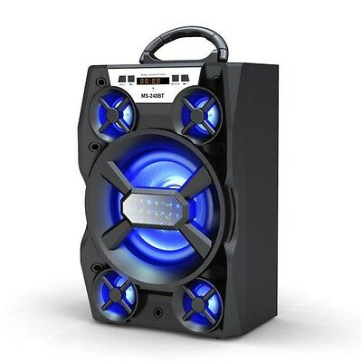 248BT LED Large Woofer Portable Bluetooth Speaker
