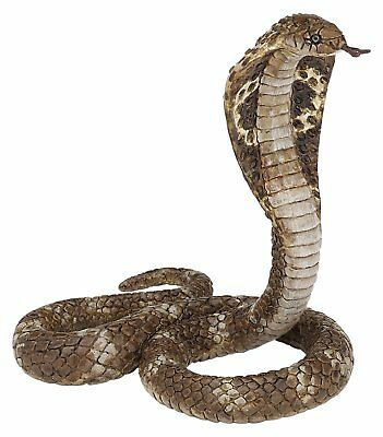 "Halloween Fake Realistic Rubber Toy King Cobra Snake 5.91"" Props Scary Gag"