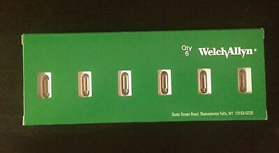 New Welch Allyn 03100-U 3.5V Halogen Lamp for 25020, 20000 Otoscope, etc Bx of 6