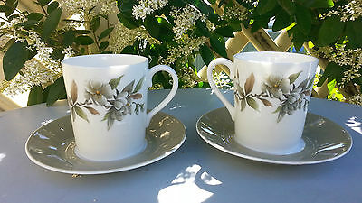 Clearance! Pair Vintage Royal Adderley Demitasse Coffee Cup Saucer Arcadia