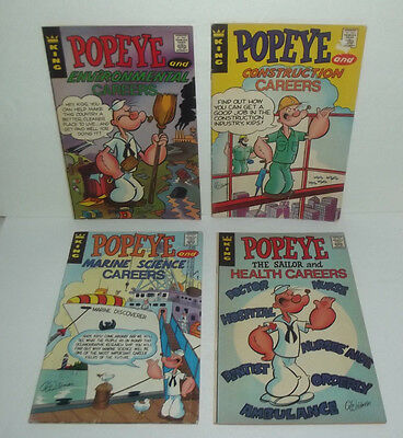 Neat King Comic Book Job Lot Popeye The Sailor Man Careers Health Construction