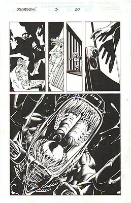 Elsa Bloodstone Vs. Alien Original Art-Michael Lopez/ Scott Hanna-2002!