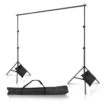 10Ft Adjustable Background Support Stand Photo Photography Video Backdrop Kit