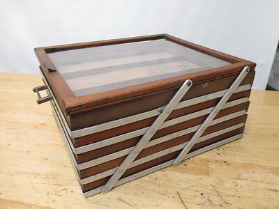 Vintage 5 Drawer Countertop Folding Sissor Display Case Store Fixture Showcase