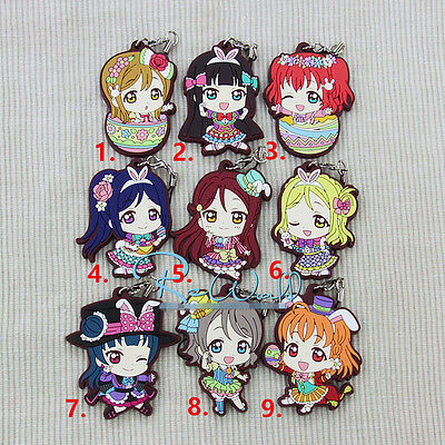 T271 Hot Japan anime Lovelive Love Live! rubber Keychain Key Ring Rare cosplay