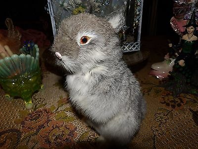 real bunny fur grey rabbit