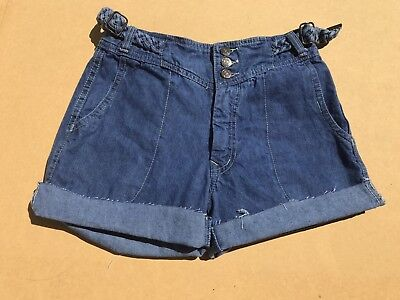 VINTAGE 70s FADED GLORY CUT-OFFS SHORTS W/ BRAIDED BELT DAISY DUKES JEANS 29/9