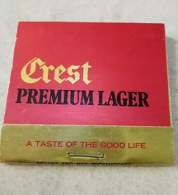 collectable Crest Premium Larger matchbook