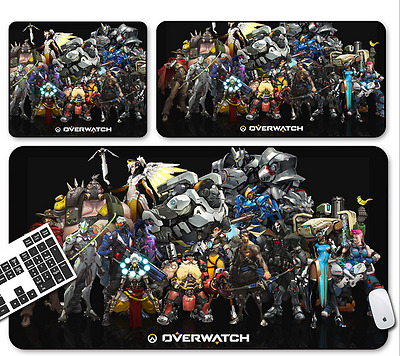 Hot Overwatch all charater Game Mouse Pad Profession PC Large Mats Muti size A