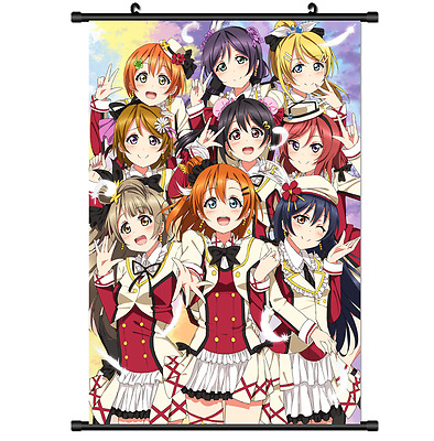 Hot Japan Anime Love Live μ's Wall Poster Scroll Home Decor 2576