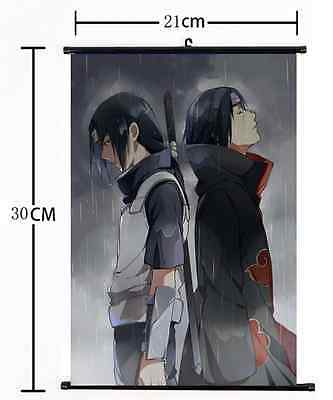 Hot Japan Anime NARUTO Itachi Uchiha Wall Poster Scroll Home Decor cosplay 006
