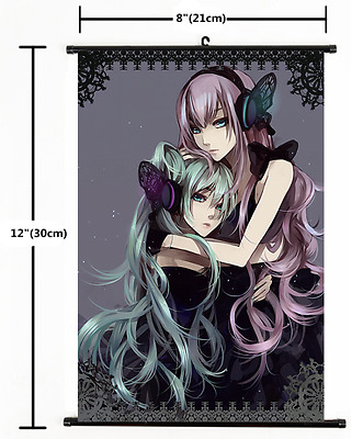 Japanese Anime Vocaloid  Hatsune Miku Poster Wall Scroll cosplay 2369