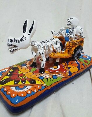 "TALAVERA ceramic  ""CARRETA "" , from the Day of the dead Collection"