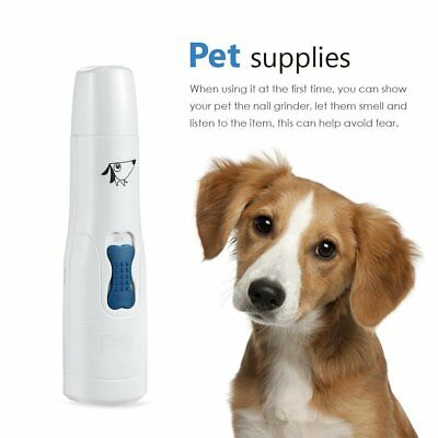 Pet Dog Cat Puppy Gentle Quite  USB Rechargeable Grooming Tool Nail Paws Grinder