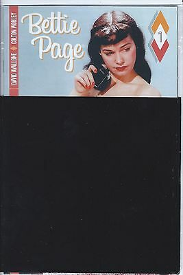 Dynamite's BETTIE PAGE #1 BLACK BAG NUDE VARIANT COMIC POLY BAG