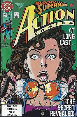 DC's ACTION COMICS(2/91)-ISSUE #662-CLARK REVEALS IDENTITY TO LOIS LANE