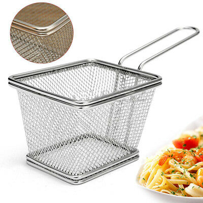 Stainless Steel Deep Fryers Frying Basket Net Mesh Fries Chip Kitchen Appliances