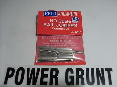 PECO SL-8310 HO SCALE METAL STREAMLINE RAIL JOINERS (Power Grunt Hobbies)