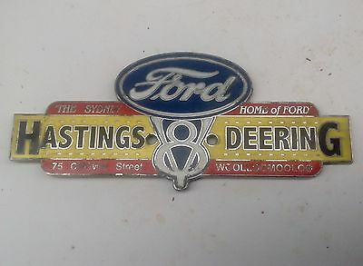 Vintage FORD V8 Hastings ID Plate - suit Customline FALCON GT/Fairlane/Fairmont