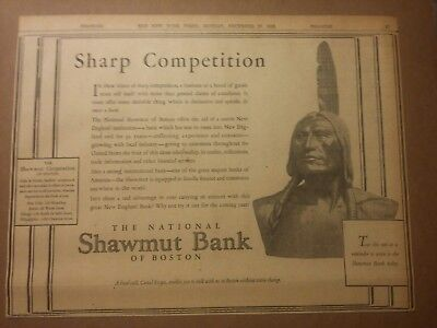 1928 The National Shawmut Bank of Boston Ad Sharp Competition