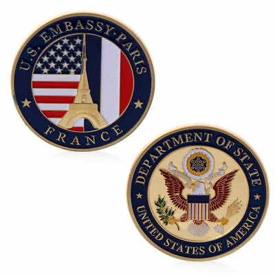 US Embassy Paris Department Of State Commemorative Coin Challenge Collection Art