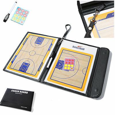 12x9.4in Basketball Coaching Tactical Board Coaches Clipboard Dry Erase w/marker