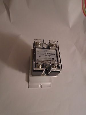 New Solid State Relay Ssr-70Da Output 70A 24-480Vac, 3-32Vdc, Aluminum Heat Sink