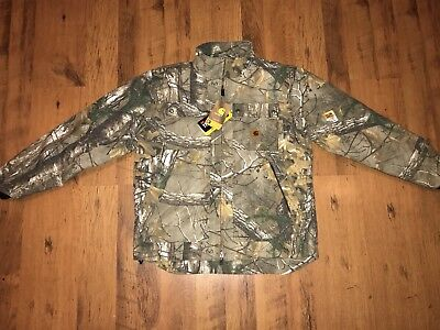 New Carhartt Quick Duck Quilted Nylon Men's Camo Jacket Size Medium