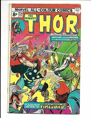 THOR # 234 (IRON MAN & FIRELORD apps. APR 1975), VG/FN