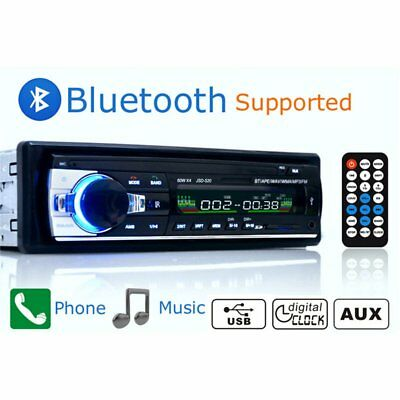 12V FM In Dash Car Stereo Radio 1 DIN SD/USB AUX Bluetooth MP3 Player Handsfree