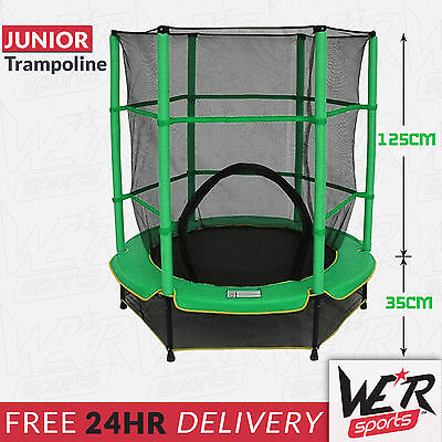 "My First Trampoline With Safety Net 55"" Junior Kids Outdoor Activity Trampoline"