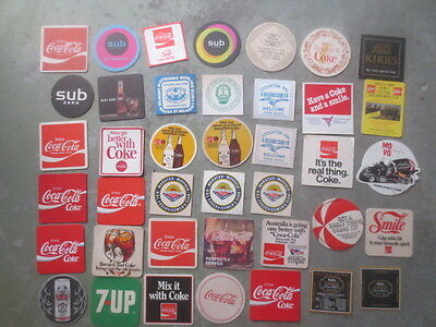 40 Different COKE COLA Australia Issue  Collectable COASTERS