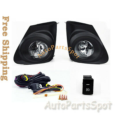 Fog Lights Kit Bumper Light Lamps - Clear FL7012 For 11-13 Toyota Corolla