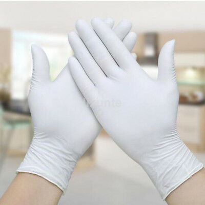 100pcs Nitrile Rubber Latex Disposable Gloves Home Household Cleaning Indoor UK