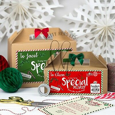 Personalised Christmas Box | Elf Re-Delivery Parcel | Shelf Xmas Eve Gift