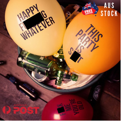 12 Abusive Balloons Party Rude Funny