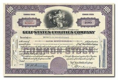 Gulf States Utilities Company Stock Certificate