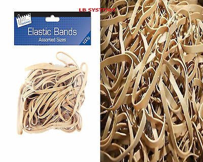Strong Elastic Rubber Bands 100g PACK FOR OFFICE HOME SCHOOL /STATIONARY NEW