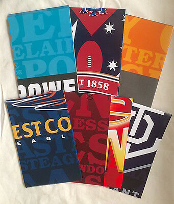 Afl Football 7 Promo Team Posters! Giants Bombers Port Adelaide Eagles Melbourne