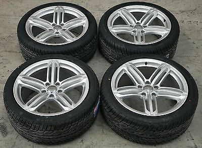 21 Inch GENUINE AUDI Q7 Silver Wheels and New Tyres 295 35 R21 NEW Condition