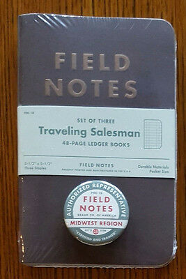 Field Notes Traveling Salesman (FNC-16) Sealed 3 Pack w/subscriber Button