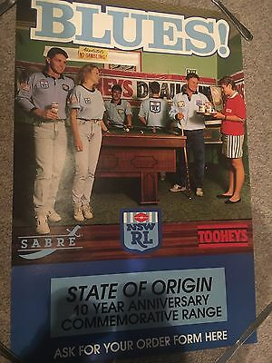 NSW STATE of ORIGIN 10 Year anniversary promotional poster