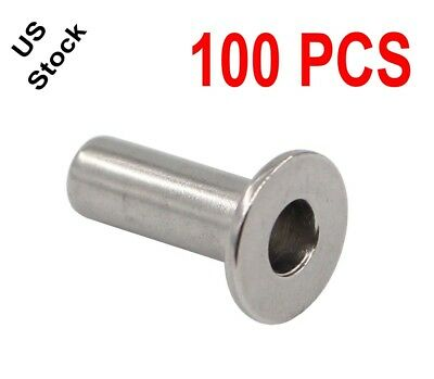 """New T316 StainlessSteel Protective Protector Sleeve for 1/8, 3/16"""" Cable Railing"""