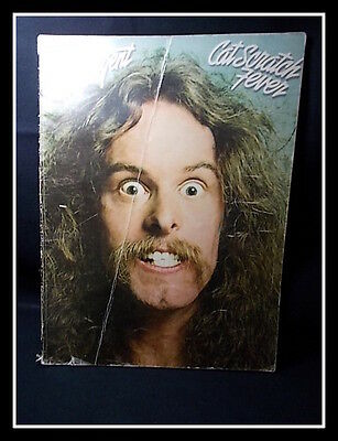 1977 TED NUGENT : Cat Scratch Fever Sheet Music Songbook - Vintage